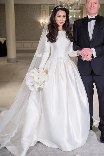 modest-satin-long-sleeves-wedding-dress-with-boat-neck