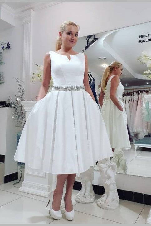 modest-short-satin-midi-bridal-dress-for-casual-wedding