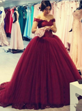 off-the-shoulder-beaded-lace-burgundy-prom-ball-gowns-vestido-de-baile-1