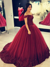 off-the-shoulder-beaded-lace-burgundy-prom-ball-gowns-vestido-de-baile-2