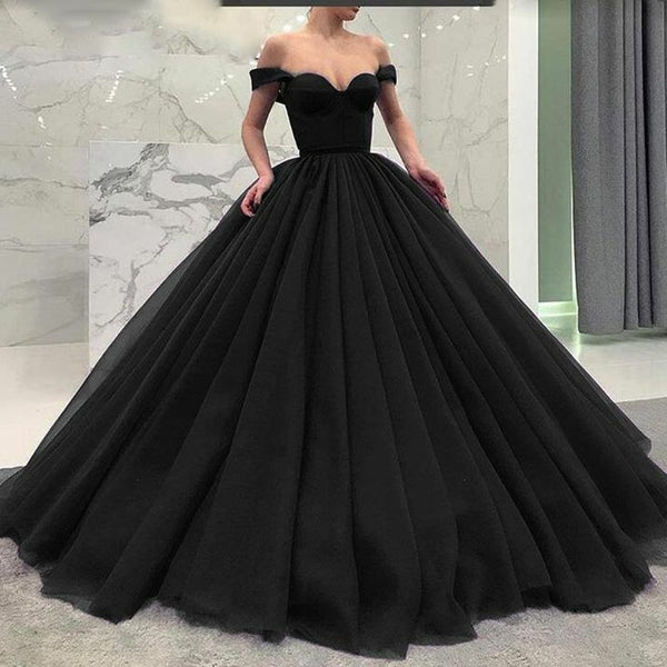 off-the-shoulder-black-prom-gown-with-puffy-tulle-skirt-1