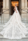off-the-shoulder-cathedral-train-wedding-gown-with-lace-bodice