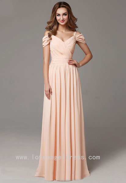off-the-shoulder-chiffon-long-wedding-guests-dress
