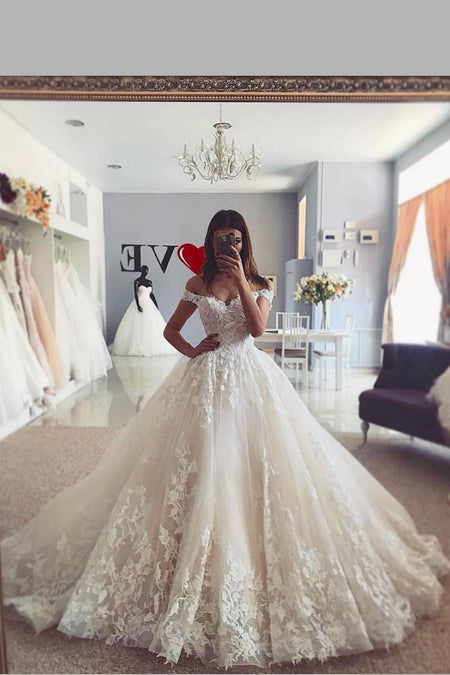Tulle Beach Bridal Gown with Illusion Long Sleeves