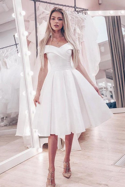off-the-shoulder-little-white-wedding-dress-short-a-line-skirt