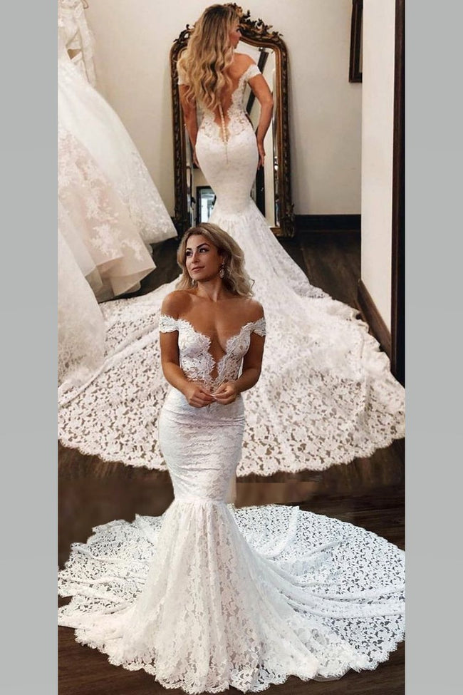 off-the-shoulder-rich-lace-bridal-gown-with-mermaid-train
