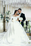 off-the-shoulder-satin-ball-gown-wedding-dress-with-beaded-appliques-train-2