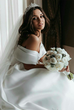 off-the-shoulder-satin-ball-gown-wedding-dress-with-beaded-appliques-train-3