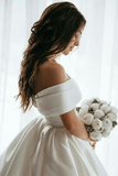 off-the-shoulder-satin-ball-gown-wedding-dress-with-beaded-appliques-train