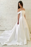 off-the-shoulder-satin-bridal-wedding-gowns-with-off-the-shoulder-neckline
