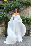 off-the-shoulder-sleeve-chiffon-wedding-gown-2021-summer-2