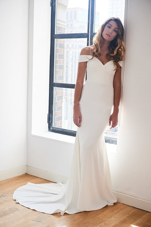 off-the-shoulder-spandex-simple-ivory-wedding-gown-vestido-de-novia