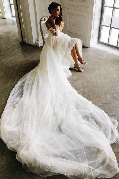 off-the-shoulder-tulle-wedding-dress-gown-with-long-train-2