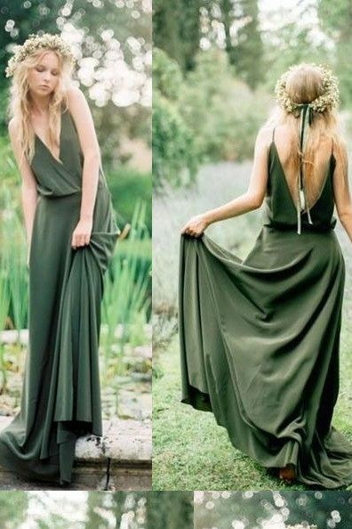 olive-green-chiffon-bridesmaid-gown-dress-long-1