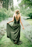 olive-green-chiffon-bridesmaid-gown-dress-long