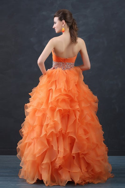 orange-organza-debutante-ball-gown-with-ruffles-skirt-1