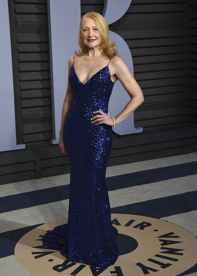 patricia-clarkson-royal-blue-sequins-celebrity-prom-dresses