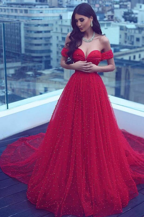 pearls-a-line-red-prom-dresses-with-off-the-shoulder-vestido-de-fiesta