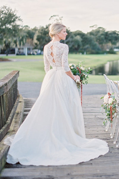 pearls-lace-sleeves-wedding-dresses-photograph-shoot