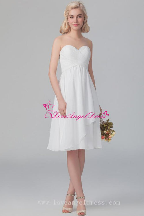 pleat-sweetheart-chiffon-little-white-dresses-for-party