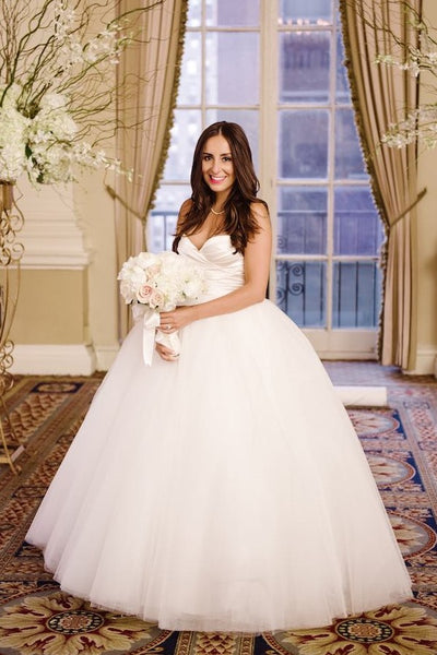 72716012d1a Pleated Sweetheart Ball Gown Wedding Dress Tulle Skirt Loveangeldress