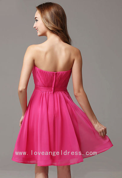 pleated-sweetheart-simple-fuchsia-homecoming-gown-short-1