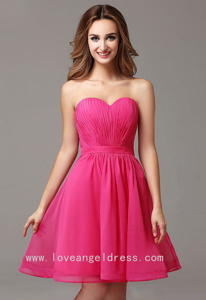 pleated-sweetheart-simple-fuchsia-homecoming-gown-short