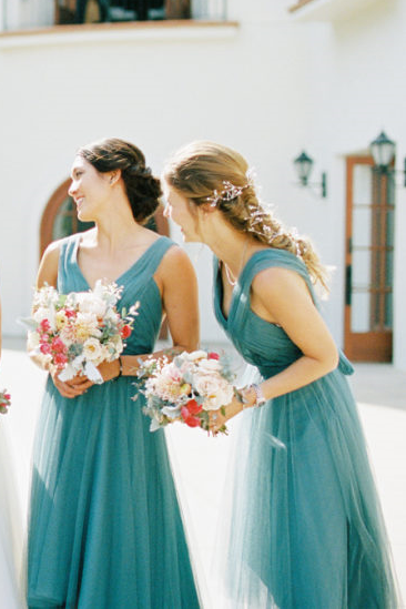 pleated-teal-hi-lo-bridesmaid-dresses-with-tulle-skirt-2