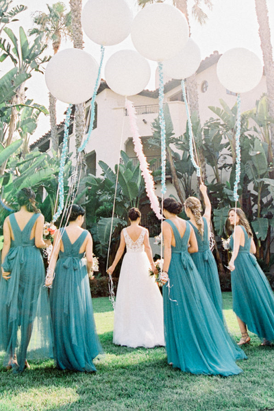 pleated-teal-hi-lo-bridesmaid-dresses-with-tulle-skirt-3