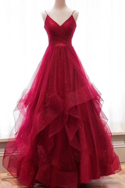 pleated-v-neckline-tulle-prom-dress-with-horsehair-layered-skirt-1