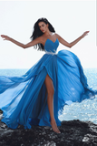 plunging-sweetheart-blue-chiffon-prom-dress-with-beaded-sash