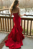 plunging-sweetheart-lace-red-mermaid-prom-gown-with-ruffled-skirt-1