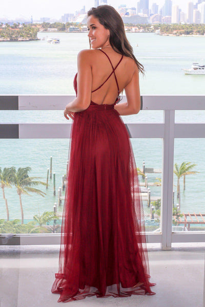 plunging-v-neck-boutique-wine-tulle-maix-long-dress-prom-1