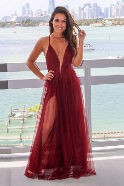 plunging-v-neck-boutique-wine-tulle-maix-long-dress-prom-2