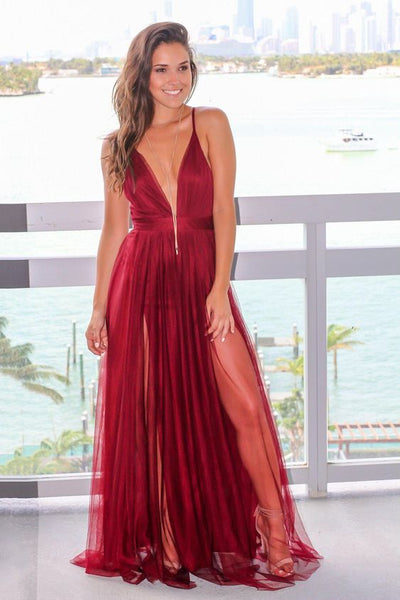 plunging-v-neck-boutique-wine-tulle-maix-long-dress-prom