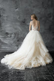 plunging-v-neck-illusion-lace-ball-gown-wedding-dress
