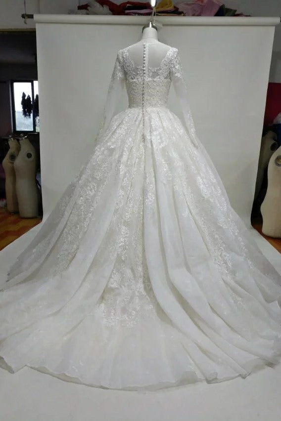 princess-ball-gown-lace-wedding-dress-with-long-sleeves-1