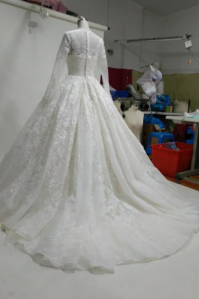 princess-ball-gown-lace-wedding-dress-with-long-sleeves-2