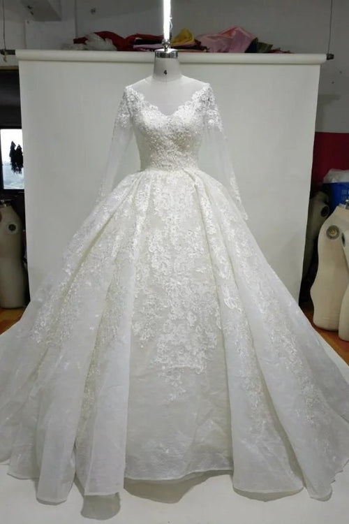 princess-ball-gown-lace-wedding-dress-with-long-sleeves