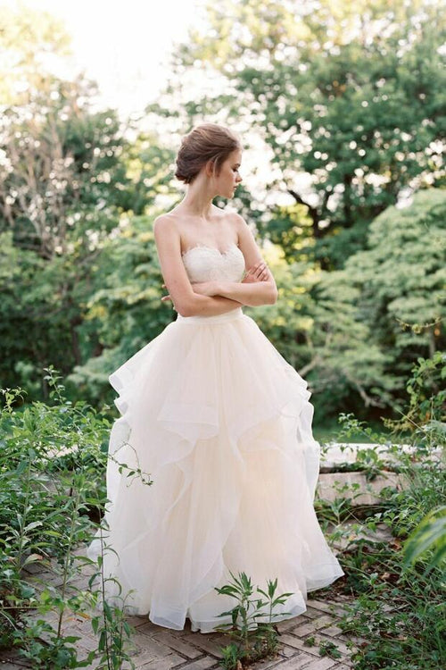 princess-ballgowns-lace-sweetheart-bridal-dress-with-ruffles-skirt