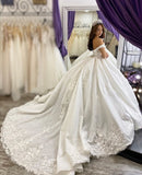 princess-floral-lace-ball-gown-wedding-dress-off-the-shoulder-1