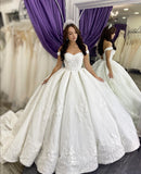 princess-floral-lace-ball-gown-wedding-dress-off-the-shoulder-2