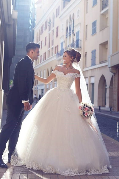princess-off-the-shoulder-lace-wedding-gown-with-tulle-skirt-1