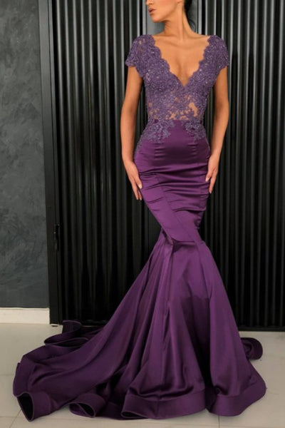 purple-mermaid-mother-of-the-bride-lace-dresses-with-sleeves
