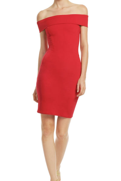 red-bodycon-cocktail-dress-with-off-the-shoulder-band