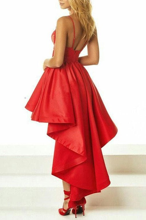 red-lace-hi-lo-prom-dresses-with-satin-skirt-vestidos-1