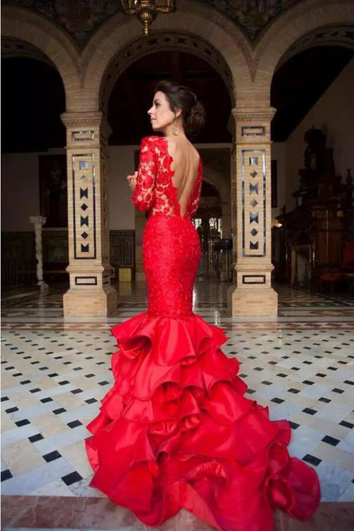 db7a7cac062 red-lace-long-sleeves-mermaid-evening-gown-with-