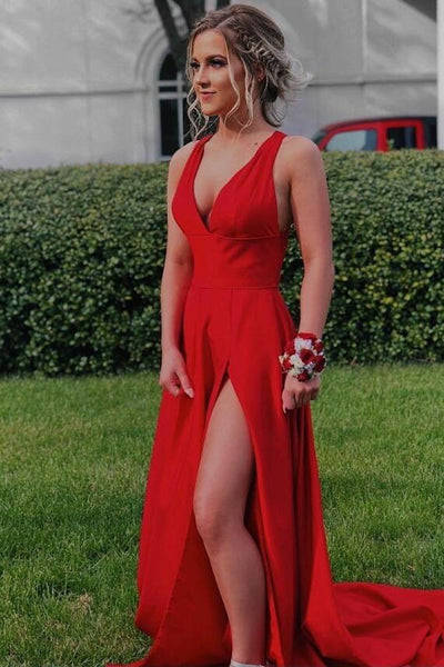 red-maxi-long-dresses-for-prom-party-with-slit-side