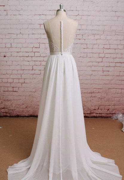 refined-illusion-neckline-lace-boho-wedding-dresses-for-beach-1