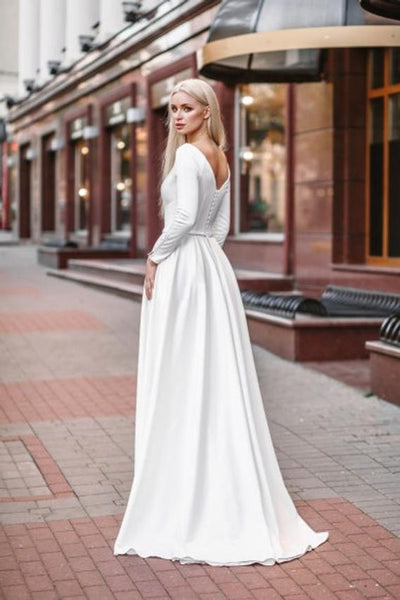 relaxed-a-line-satin-long-sleeved-wedding-dress-with-pockets-1